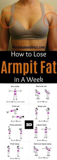 Arm fat workout| How to get rid of armpit fat and underarm fat bra in a week .These arm fat exercises will make you look sexy in your strapless dress and your friends will be jealous. Try it, you do not have anything to lose execept than that subborn uppe...