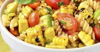 Grilled Corn and Avocado Pasta Salad with Chili-Lime Dressing is an easy, gluten-free pasta salad recipe full of color and fresh flavor!