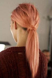Low hung classic pony, very much on trend for spring summer 2013