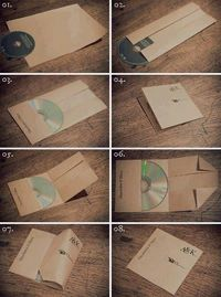 Create a CD sleeve from a single piece of paper!