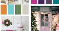 Great non traditional christmas color palettes!
