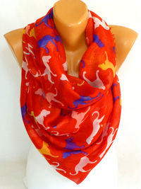 infinity Scarf, Shawl, Dog Scarf, Dog Printed Shawl, Dog Printed Scarves, Women Fashion Accessories, Lightweight Summer Scarf, Free Shipping $16.50