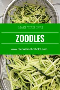 A cheap, easy, and fast recipe that's gluten-free and dairy-free. Zoodles and chicken-apple sausage for two.