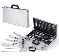 Picnic Time 680-00-179 Mirage Pro 11-Piece Stainless Steel BBQ Set with Case