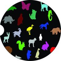 Animals, 2 Absorbent Car Coasters, Car Accessories for her, Auto Coaster, Coaster, Cup Holder Coaster, Gift For Her, For Him $14.00
