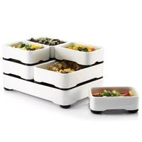 These would totally be my way to make sure everything was done at the same time! Pretty cool stacking baking dishes...wish they were cheaper!
