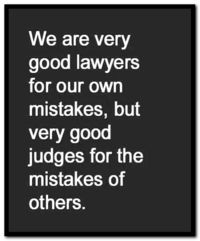 Our own mistakes, we are lawyers