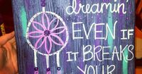 Canvas art. #dreamcatchers keep on dreamin'
