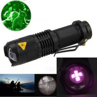 ESAMACT ESA IR Tactical Hunting Flashlight 5W 850nm 5core Zoomable Infrared Night Vision Torch (AA Battery)