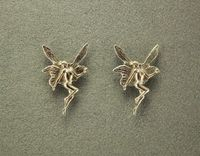 Gold or Silver Fairy Magnetic Non Pierced Clip or Pierced Earrings $25.00 Designed by LauraWilson.com
