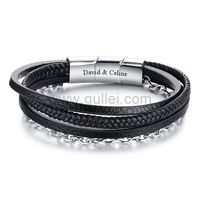 Engraved Mens Jewelry Wrap Bracelet Black https://www.gullei.com/engraved-mens-jewelry-wrap-bracelet-black.html