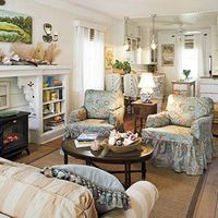 Ready for a change? Washable slipcovers in lighthearted new fabrics perk up old upholstery. See this Inspiring Living Room
