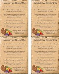 Thanksgiving Blessing Mix Recipe and Quotes (love the quote attachment)