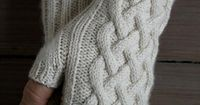 Cabled mittens - free pattern from Purl Soho