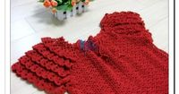 Red Top with Fluffy Sleeves free crochet graph pattern
