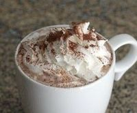basic Hot Chocolate recipe - Perfect for the colder months! 1/3 C cocoa powder, 1/3 C sugar, 1/3 C water, 4 C milk, splash of vanilla & add whipped cream - delish!
