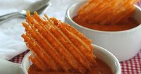 Spicy Cheddar Crisps - Low Carb and Gluten-Free: Crispy toasted Cheddar cheese and Tabasco crisps, made in a panini press. A perfect low carb snack.