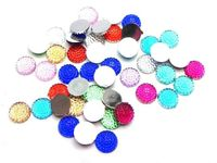 CLEARANCE Pack of 200 Mini Round 8mm Cabochons. Assorted Colours Rhinestone £8.19
