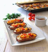 Potato Skins with Feta Cheese and Sausage