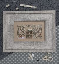 Simply Winter is the title of this cross stitch pattern from The Drawn Thread that is stitched with Gentle Art Sampler threads