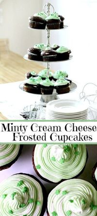 It is not too late to make a quick dessert for St. Patrick's Day. Grab your favorite packaged cake mix and bake a batch of Minty Cream Cheese Frosted Cupcakes.