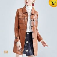 Haute Couture | Women Vintage Leather Coat CW619059 | CWMALLS.COM