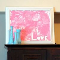 Here's a great way to decorate your home for Valentines Day with the help of your child! The outcome is adorable, and your child will �€˜love' making it! Find the