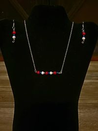4th of July Bar Necklace Set $15.00