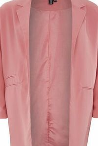Dorothy Perkins Womens Izabel London Mid Pink Classic Lapel Mid Pink long line classic lapel coat. V neckline. Long sleeves. Unfastened. Lined. 83.5cm 100% Polyester. Cold hand wash. Dry cleanable. http://www.comparestoreprices.co.uk/womens-clothes/do...