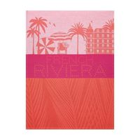 French Riviera Coral Tea Towel Set of 4 by Le Jacquard Francais $76.00