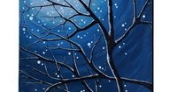 Moonlit Branches by LittleSparrowGallery, $130.00 etsy