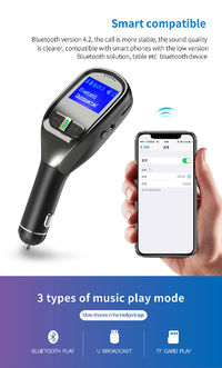 Quelima G11 5V 3.1A Car Charger FM Transmitter With 4.2 Version Bluetooth