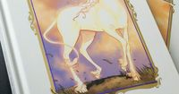 The Last Unicorn. Graphic novel version. Peter S Beagle. One of my favorite books and movie growing up. Just beautiful
