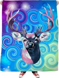 ROFB Deer Dreams Fleece Blanket $65.00
