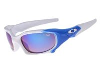 Cheap Imitation Oakley Pit Boss White Frame Blue Lens Sunglasses