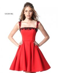 RED/BLACK STYLE SHORT COCLTAIL DRESS DESIGN BY SHERRI HILLES S51482