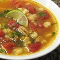 Chicken and Hominy Soup with Lime and Cilantro Allrecipes.com