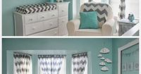Aqua and Grey Baby Room