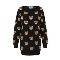 Moschino Teddy Bears Knitted Long Sleeves Sweater Black