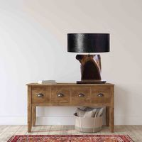 Black Walnut Table Lamp With Live Edge $375.00