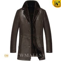 CWMALLS® Albany Vintage Shearling Trench Coat CW807127