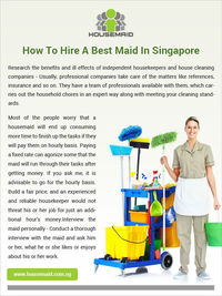 How To Hiring A Best Maid in Singapore