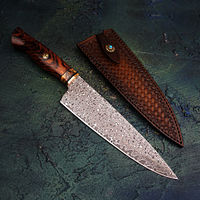 Hand Forged Chef Knife Exclusive Cooking Tools Leather Sheath $223.80