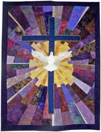 You guys helped me with some design problems when I first started working on this quilt for church. Thanks to a little help from my friends (and EQ the Mouse) I