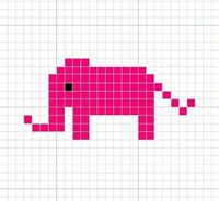Knitting Charts: Elephant Knitting Chart Pattern