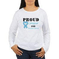Proud Caregiver For Someone Special prostate cancer awareness t-shirts & gifts with light blue ribbon. Ideal for caregivers to show they support someone with prostate cancer