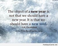 The object of a new year quote