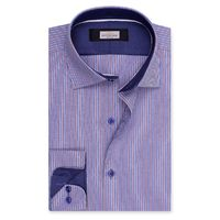 Create a stylish look with this Oxford Men blue and multi dress shirt. Woven in Egyptian cotton. this dress shirt has a fine finish.  �€� 100% Cotton  �€� Classic collar  �€� French cuff  �€� Oxford Men  �€� Mac...