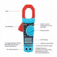 VC903 True RMS AC/DC digital clamp meter auto range ac dc voltage current resistance capacitance duty cycle 1%~99% VC903