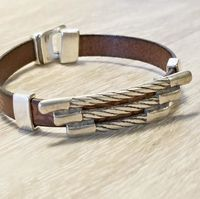 Jewelry for Men, Brown Leather Bracelet, Wristband, Gifts for Men $28.00